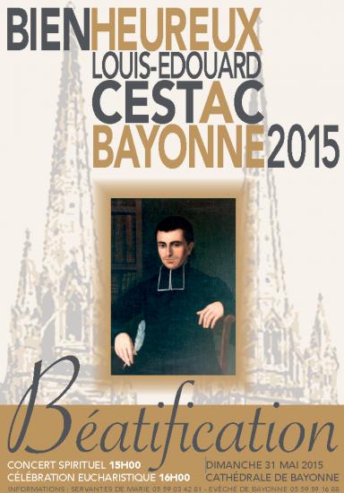 Affiche béatification père Cestac