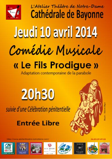 Comédie musicale Le Fils Prodigue soir