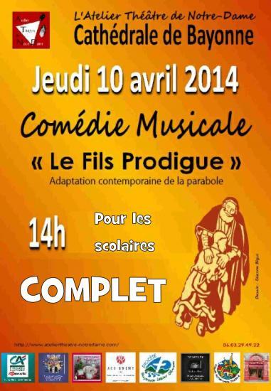 Comédie musicale Le Fils Prodigue Bayonne