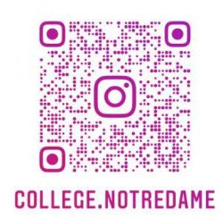 Instagram college notre dame qr code